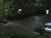Senigallia, via Mercantini sott\'acqua
