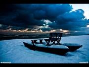 12/01/2012 - Senigallia: la neve al mare copre un