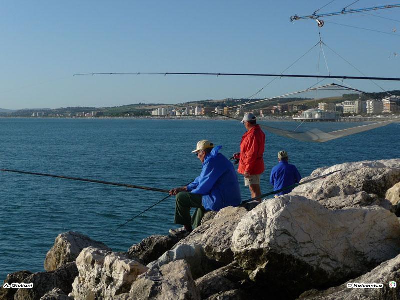 03/08/2009 - Senigallia, pesca al molo